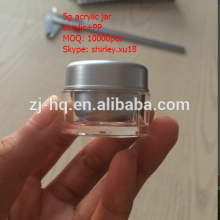round acrylic jar cosmetic container small plastic jar,top selling round acrylic jar round acrylic jar 5g