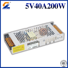 Slim Transformer 5V 400A 200W LED Power Supply