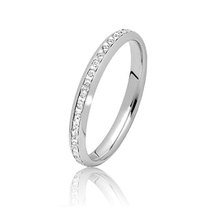 Vendas inteiras Anéis de noivado de jóias de prata esterlina 925 com CZ