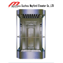 Square Shape Panoramic Elevator with Machine Room
