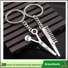 Инструменты парикмахера расчески и ножницы брелок для пар
