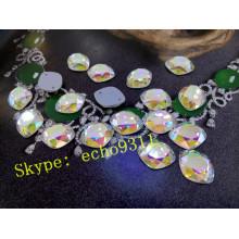 Pedras de costura de vidro de cristal costurar em pedras (dz-1224)