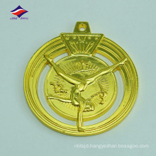 Hollow out nice design good quality metal gymnastics medal