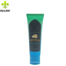 Tubo plástico da pomada da pomada da coloração de cabelo 90ml com tampão superior da aleta