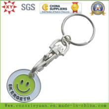 Supermarkt-Trolley-Münzen-Schlüsselkette mit fertigen Logo besonders an