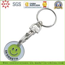 Porte-clés de monnaie de chariot de supermarché avec logo personnalisé