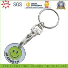A corrente chave da moeda do trole do supermercado com personaliza o logotipo