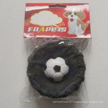 Toy Dog of Vinyl Tire com futebol para cachorro