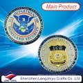 Alta Qualidade Metal Custom EUA Militar Desafio Moedas / Moda Souvenir Medalhão Rodada Ouro Medalhas De Prata Eagle / Coin Badge Réplica Copiar Medalhões