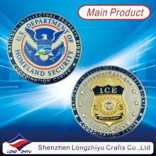Medalla de metal de alta calidad de encargo de las monedas del desafío militar de los EEUU / Medallón del recuerdo de la manera Medallas de plata del oro redondo Medalla de Eagle /