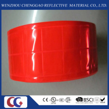 Reines rotes reflektierendes PVC-Band mit Kristallgitter