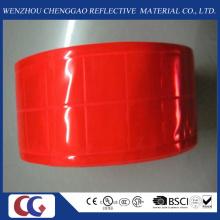 Ruban réfléchissant en PVC rouge pur avec treillis en cristal