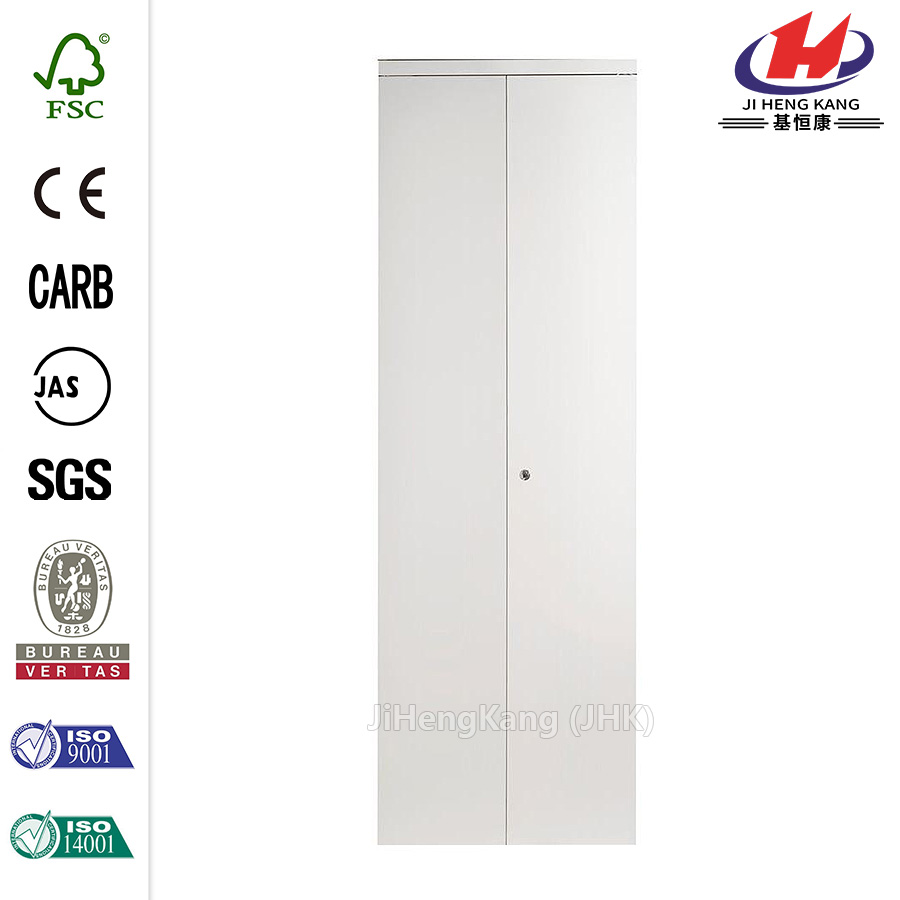 Beveled Edge Mirror Solid Core MDF Interior Bi-fold Door