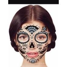 Tatuagem personalizada da máscara protectora transferência de água provisória para o partido