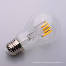 A19 weicher Glühlampe 6500K 4w 6w der Faden-LED