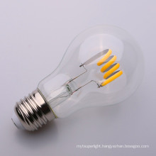 A19 soft Filament LED Bulb 6500K 4w 6w