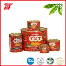 Pasta de tomate enlatada saludable de la marca Tmt con precio bajo