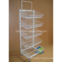 5 Tier Ajustable Wire Basket Display (PHY307)
