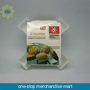 high quality plastic microwave potato chip maker