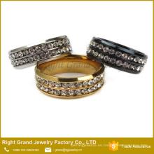Nuevo anillo de dedo modificado para requisitos particulares de las señoras anillo barato del zirconio de la boda de la boda