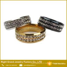 Anneau de Zircon cubique de mariage bon marché personnalisé de conception de bague de doigt de dames