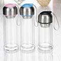 Garrafa de água de vidro de negócios criativos com manga