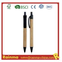 Caneta esferográfica de bambu de madeira para artigos de papelaria Eco635