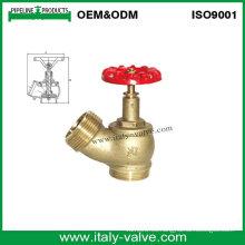 Válvula de la boca de riego del aterrizaje del fuego de cobre amarillo (AV4060)