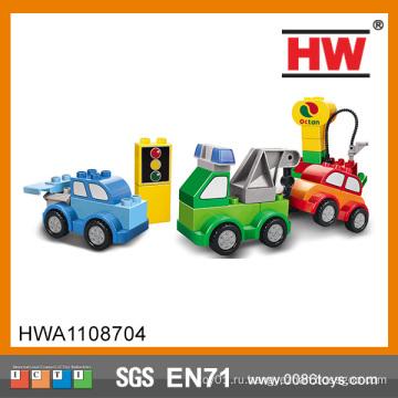 Новый дизайн детских пластиковых блоков игрушечных автомобилей
