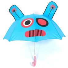 Werbungsmarken ziemlich reizender bunter Werbungskarikaturhandbuch öffnen gerade Kinderregenschirm