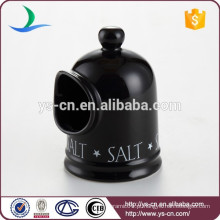 Black ceramic kitchenware salt bottle para venda