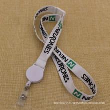 Cordon de bobine Badge personnalisé avec porte-cartes d'identité