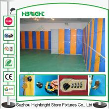 2 séries armazenamento plástico armário vestiário cadeado