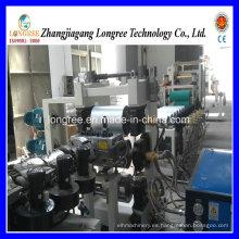 Máquina de alta velocidad 2017 de la hoja de las bandas de borde del PVC / 400-600m m Máquina de formación de bandas de borde del PVC con la cortadora y la línea de impresión
