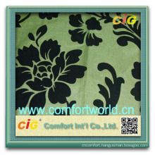 Ningbo supplies new style useful home colorful textile flock microfiber fabric for sofa