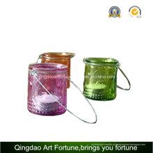 Lanterna da Vela Tealight com Metal manipulação para a decoração Home