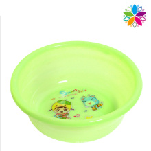 Round Cartoon Design Plastic Wash Basin (SLP037)