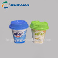 In mould label for yogurt cup with spoon