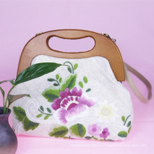 Ручной вышитые сумки женщин простые сумка ткань