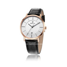 Simple Leather Quartz Couple Wrist Watch