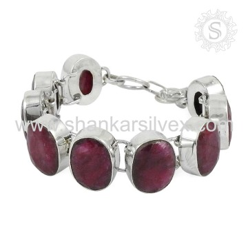 Alibaba 925 Sterling Silver Jewelry Pink Ruby Manufacturer Online Silver Jewelry Bracelet