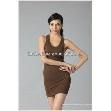 2014 verão novo vestido mulheres, confortável e suave de confecção de malhas vestido para a menina