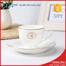 Knochen China Tee Tassen Restaurant Verwendung mit einfachen Design Teetassen für Förderung Verkauf