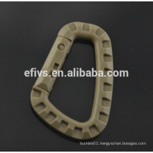 Brown Lightweight medium-sized D shape tactical hooks (ITW) wholesale.