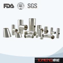 Traitement des aliments en acier inoxydable Raccord soudé de tuyaux de coude (JN-FT2008)