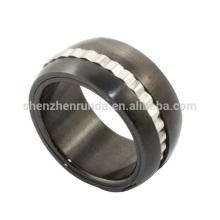 Atacado mens dedo anelar preto metal jóias anéis de aço inoxidável jóias
