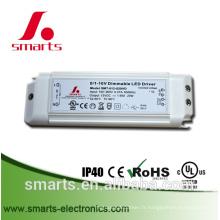 12v 20w a mené l'alimentation d'énergie de gradation 0-10v