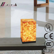 Moderne Hotel dekorative Natual Shell Square Nachttischlampe