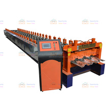 Commercial building floor deck roll forming machine