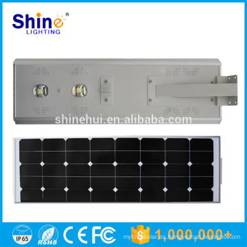 50W precio de fábrica LED integrado todo en una luz de calle solar